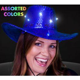 f8347cb9 Flashing sequin 8 led cowboy hat