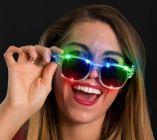 Flashing Retro Square Glasses