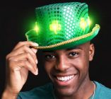 LED Clover Fedora Hat