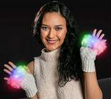 LED Fingerless Fuzzy Gloves