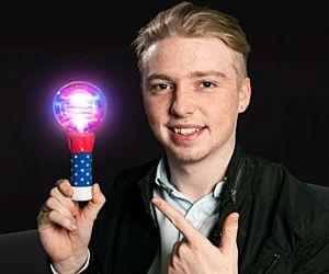 LED Ball Spinners (USA R/W/B)
