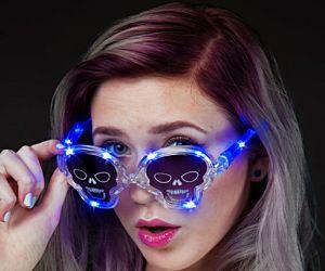 Skull Flashing Glasses