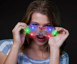 New Years Eve Flashing Eye Glasses