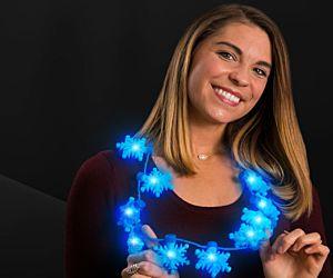 LED Snowflake Necklace