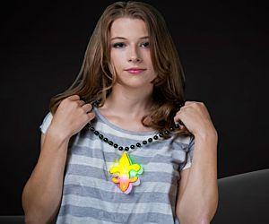 fleur de lis bead necklace