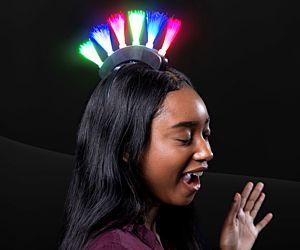 Light up Fiber Optic Mohawk