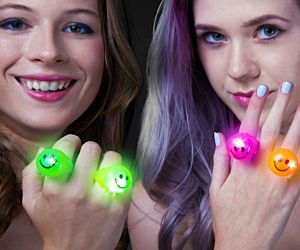Light up Smiley Face Rings