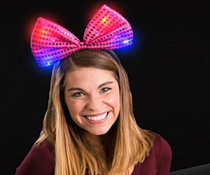 Light up Sequin Bow Tie Headband