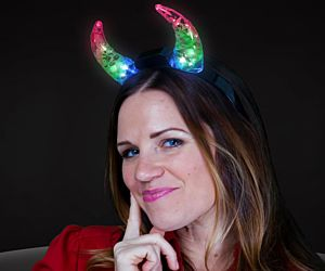 LED Crystal Devil Horns