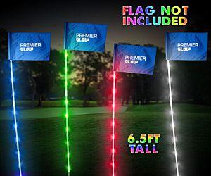 6.5 ft LED Night Golf Flag Stick