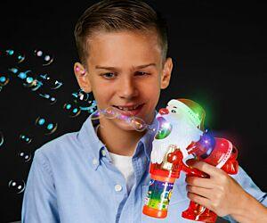 Light Up Santa Bubble Gun
