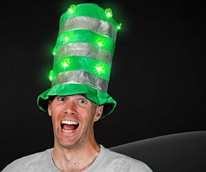 LED Shamrock Top Hat