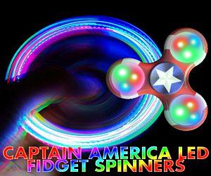 Captain America LED Fidget Spinner