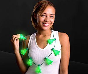 Christmas Tree Light up Necklace