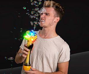 LED dinosaur bubble wand