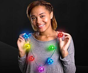 LED Jingle Bell Christmas Necklace