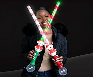 LED Candy Cane Snowman Sword