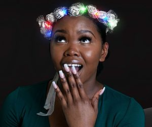LED Rosebud Flower Crown Headband