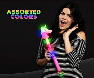 Flashing Unicorn wand with light-up ball