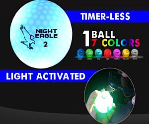 Night Eagle CV LED Golf Ball - 7 Color