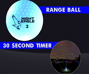 30 Second LED Range Golf Ball - Blue