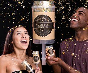 Confetti Push Pops - Gold