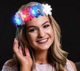 Patriotic LED Flower Headband