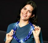 Blue LED Jumbo Chain Link Necklace