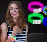 Triple Wide Glow Bracelets