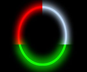 Red White Green Glow Necklaces (50/pcs)