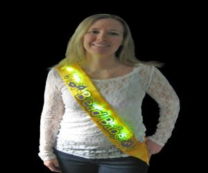 Blinky LED Bead Babe Sash