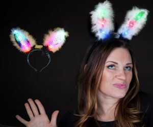 Flashing Bunny Ears - Black