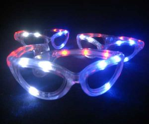 Red White Blue Flashing Sun Glasses USA