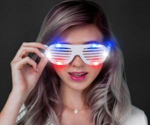 Light up Shutter Shades (R/W/B)