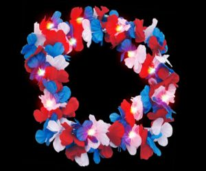 Light Up Hawaiian Leis (R/W/B)