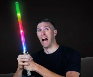 Glitter Light Saber Sword
