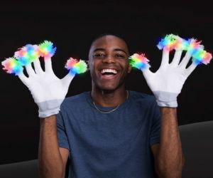Light up Gloves White