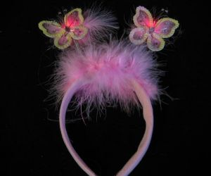 Flashing Butterfly Headband