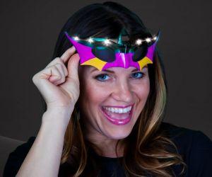 Light up Mardi Gras Glitter Masks