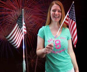 Light up American Flag
