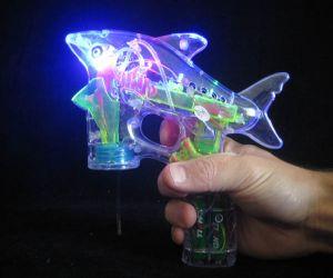 Shark Light up Bubble Gun