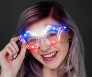 Flashing Star Sunglasses (R/W/B)