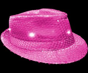 Light Up Fedora Hat - Hot Pink