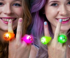Light up Peace Rings