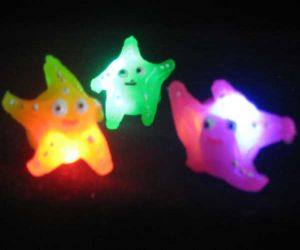 Light up Starfish Rings