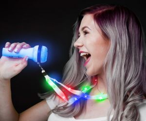 Light up Microphone Lanyard Necklace
