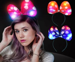 Flashing Bow Headband