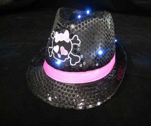 Girl Skull Fedora Hat