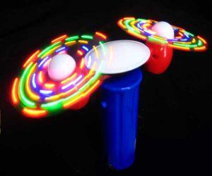 Flashing Double Fan Spinner