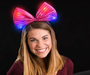 Light up Sequin Bow Tie Headband